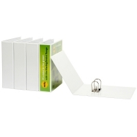 Marbig Enviro Insert Lever Arch File PVC A4 Clearview White