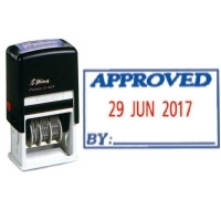 Shiny Self-Inking Date Stamp S404 Approved/Date