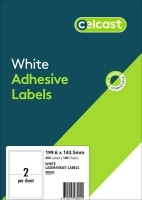 CELCAST Labels 48002 BX100 2/sheet 199.6x143.5mm