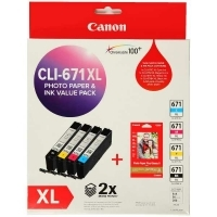 Canon Ink Cartridge CLI671XLVP  Value Pack