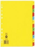 Divider A4 Manilla Bright Color 1-12 Marbig 37160