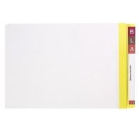 AVERY LATERAL FILE Mylar Reinfcd Tabs Fcap 42440 Yellow/Clear