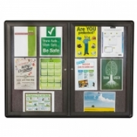 Quartet Enclosed Fabric Bulletin Board QT2364L 1200x900mm