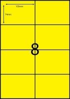 Rediform Colour Labels A4 Bx100 (8/sh) 104x74 Flouro Yellow