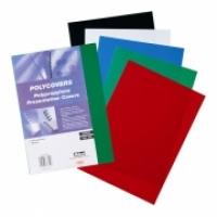 IBICO BINDING COVERS A4 PVC Polycovers 300mic PK100 Black