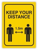 DURUS Keep Your Distance Sign