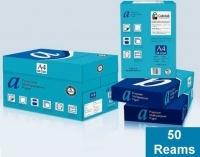 aPremium A4 White 80gsm Copy Paper B(10Bxs-50reams)
