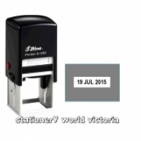 Shiny Self-Inking Date Stamp S530D (Square) 30x30mm