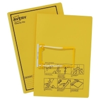 Avery Tubeclip File BX20 Yellow Printed Black 84442