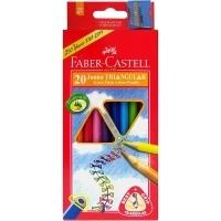 Faber Castell Junior Triangular Thick Colour Pencils BX20