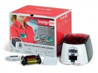 Badgy Card ID Printer No 100 & Starter Kit-Incl.Plastic Cards