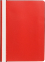 Marbig Economy Flat Files A4 Clear Front 1001003 Red BX50