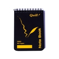 Quill Pocket Notebook PP Q560 60gsm 112 x77mm 96 Page PK20 Black
