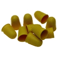 Esselte Superior Thimblette Thumb Grips No 3 (ExtraLarge) Yellow