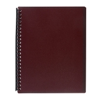 Marbig A4 Refillable Display Book 20pocket 2007021 Maroon