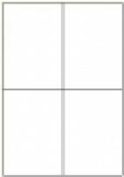 Custom Label 413 A4 BX100 4/sheet White 105x147.6