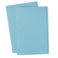 Avery Manilla Folders Coloured Fcap  BX100 Light Blue