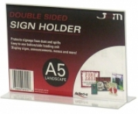 Deflecto Sign Holder Double Sided T-Shape A5 Landscape 47911