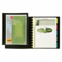Marbig A4 KwikZip Display Book+Divider 10pocket 2020102