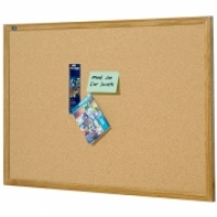 Quartet Corkboard Oak Frame QT301 450x600mm
