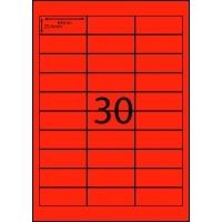 Rediform Colour Labels A4 Bx100 (30/sh) 64x25.4 Flouro Red