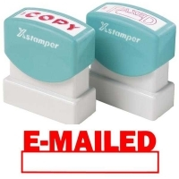 XSTAMPER STAMP - Emailed/Date (Red) 1650 (5016502)