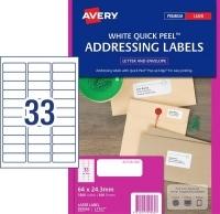 Avery Laser Label L7157 BX100 33/sheet