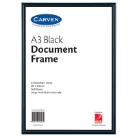 Carven Document Frames A3 Black BX4 QFWBLKA3