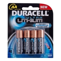 Duracell Battery Ultra Lithium AA Card 4 2024