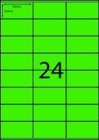 Rediform Colour Labels A4 Bx100 (24/sh) 70x36 Flouro Green