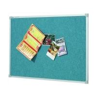 Quartet Penrite Fabric Pinboard Wedgewood Blue 1800x1200