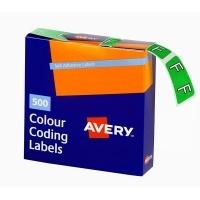 Avery Coding Label Alpha BX500 43206 (F) 25x38mm L Green