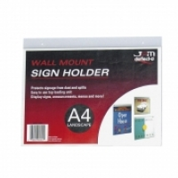 Deflecto Sign Holder Wall Mount A4 Landscape 46901