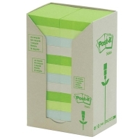 Post It Notes 654-RTP Recycled Tower Pastel PK16