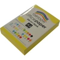 Rainbow Colour Copy Paper A4 80gsm Yellow (ream-500sheets)