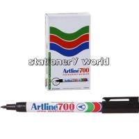 Artline 700 Marker Permanent Fine Bullet Black BX12