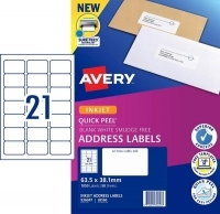 Avery Inkjet Label J8160 PK50 21/sheet