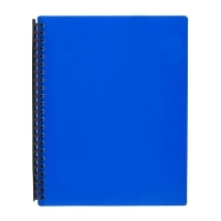Marbig A4 Refillable Display Book 20pocket 2007001 Blue