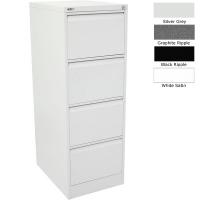 Go Filing Cabinet 4 Drawer White Satin