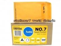 Tudor Envelope 145x90 P7 Seed PresSeal Gold BX500 140144