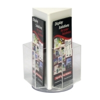 Deflecto Rotating Countertop Brochure Holder DL White 592701