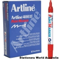 Artline 400XF Paint Marker 2.3mm Red BX12