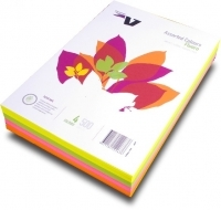 Victory Flying Colours Coloured Paper A4 Fluro 4asst PK500