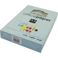 Rainbow Colour Copy Paper A4 80gsm Sky Blue (ream-500sheets)