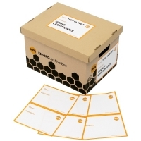 MARBIG ARCHIVE BOX SELF ADHESIVE LABELS A5 Pkt20 LB10010