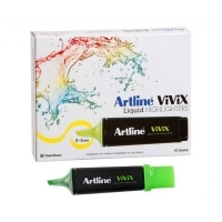 Artline Vivix Liquid Highlighter Green BX10