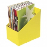 Marbig Book Boxes 8005805 Large: 170Wx250Dx270H (mm) Pkt5 Yellow