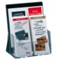 Deflecto Brochure Holder DL 4Tier 39122