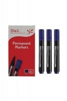 STAT Permanent Marker 1.3mm Bullet Nib BX12 Blue