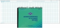 Zions Advance Bookings at a Glance Record Book 220x185mm ADV15
